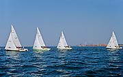 Sailing on Lake Ontario  (Hamilton Harbour) during regatta<br /> Hamilton<br /> Ontario<br /> Canada