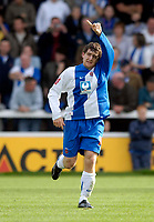 Photo: Jed Wee/Sportsbeat Images.<br /> Hartlepool United v Swindon Town. Coca Cola League 1. 15/09/2007.<br /> <br /> Hartlepool's Joel Porter celebrates his equalising goal.