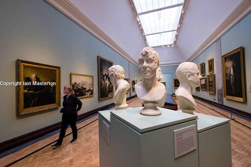 Interior of Scottish National Portrait Gallery in Edinburgh , Scotland, United kingdom