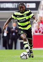 Celtic FC vs Al Ahly Wembley Cup 24/07/09<br /> Photo Nicky Hayes/Fotosports International<br /> Celtic midfielder Landy N'Guemo in action.