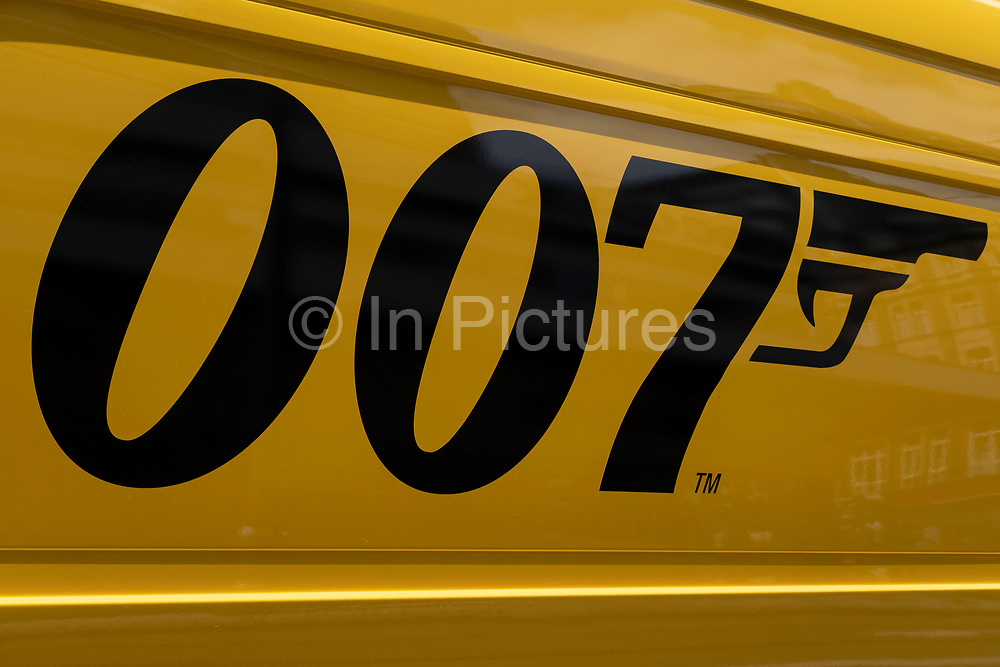 DHL delivery van with 007 livery on 14th July 2021 in Birmingham, United Kingdom. The 007 logo as used in the James Bond films is trademarked and has been used by DHL Worldwide in a marketing campaign around the time of the latest Bond movie release. The company is using Licenced to deliver or Delivered, simply delivered, in homage to the films famous catchphrases.