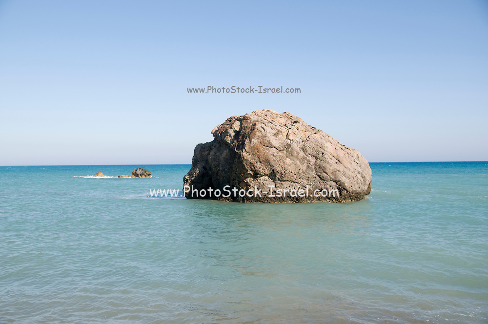 Cyprus, Paphos, Rock of Romiou the legendary Birthplace of Aphrodite