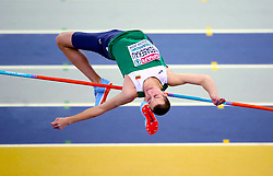 Belarus' Maksim Nedasekau competes in the Men's High Jump qualifying during day one of the European Indoor Athletics Championships at the Emirates Arena, Glasgow.