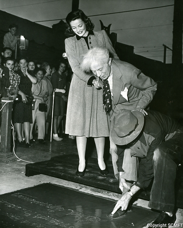 1940 Sid Grauman's hand/footprint ceremony at the Chinese Theater
