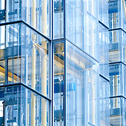 Detail of glass structure of building in the city of london.
