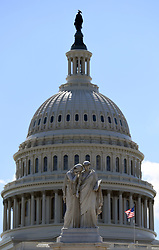 June 27, 2017 - Washington, District of Columbia, U.S. - The  U.S. Capitol is seen in Washington D.C. Senate Republicans have delayed the vote to repeal and replace ObamaCare until after lawmakers return from the July 4 recess. (Credit Image: © Yin Bogu/Xinhua via ZUMA Wire)