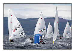 Chloe Martin, GBR 193028.Opening races in breezy conditions for the Laser Radial World Championships, taking place at Largs, Scotland GBR. ....118 Women from 35 different nations compete in the Olympic Women's Laser Radial fleet and 104 Men from 30 different nations. .All three 2008 Women's Laser Radial Olympic Medallists are competing. .The Laser Radial World Championships take place every year. This is the first time they have been held in Scotland and are part of the initiaitve to bring key world class events to Britain in the lead up to the 2012 Olympic Games. .The Laser is the world's most popular singlehanded sailing dinghy and is sailed and raced worldwide. ..Further media information from .laserworlds@gmail.com.event press officer mobile +44 7775 671973  and +44 1475 675129 .