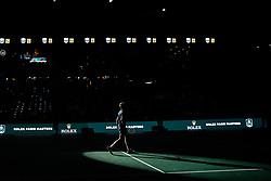 October 29, 2018 - Paris, Ile-de-France (region, France - Adrian Mannarino (FRA) vs. Ugo Humbert (FRA) ........ Adrian Mannarino (FRA) wins against Frenchman (99em ATP) Ugo Humbert in the first round at the Rolex Paris Masters tennis tournament AccorHotels Arena in Paris, France, October 29, 2018 (Credit Image: © Julien Mattia/Le Pictorium Agency via ZUMA Press)