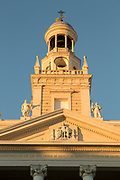 View of town hall tower, Cadiz, Andalusia, Spain