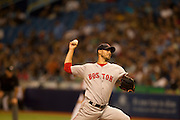 MLB: SEP 12 Red Sox at Rays. Rick Porcello of the Red Sox throwing a pitch.