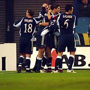 NLD/Arnhem/20051211 - Voetbal, Vitesse - Ajax, blijdschap bij Angelos Charisteas en het team na zijn doelpunt