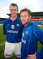 Fotball. Eliteserien Vålerenga - Start. Knut Henry Haraldsen og Bjørn Arild Levernes, Vålerenga.<br /> <br /> Foto: Andreas Fadum, Digitalsport