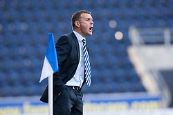 Queen of the South's manager Jim McIntyre.<br /> Falkirk 2 v 1 Queen of the South, Scottish Championship 5/10/2013.<br /> ©Michael Schofield.