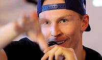 Alpint<br /> FIS World Cup<br /> Sölden Østerrike<br /> Foto: Gepa/Digitalsport<br /> NORWAY ONLY<br /> <br /> SOELDEN,AUSTRIA,20.OCT.16 - ALPINE SKIING - FIS World Cup season opening, Rettenbachferner, preview, Rossignol, press conference. Image shows Henrik Kristoffersen (NOR).