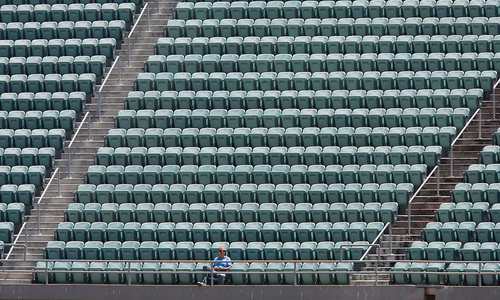 With the Los Angeles Dodgers in bankruptcy and struggling on the field, empty seats are plentiful at Dodger Stadium.