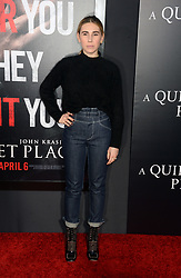 Zosia Mamet attending the 'A Quiet Place' New York Premiere at AMC Lincoln Square Theater on April 2, 2018 in New York City, NY, USA. Photo by Dennis Van Tine/ABACAPRESS.COM