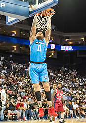 July 6, 2018 - Oakland, CA, U.S. - OAKLAND, CA - JULY 06: Chris 'Birdman' Andersen (11) of Power slams some points down during game 3 in week three of the BIG3 3-on-3 basketball league on Friday, July 6, 2018 at the Oracle Arena in Oakland, CA (Photo by Douglas Stringer/Icon Sportswire) (Credit Image: © Douglas Stringer/Icon SMI via ZUMA Press)