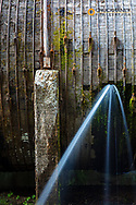 Leaky Toketee Project pipeline in the Umpqua National Forest, Oregon, USA