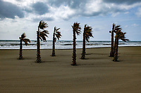 The sun doesn't always shine in Spain. - and the gentle cooling breeze is replaced by a chilly wind. The beach in question is at Estepona, Malaga Province. April 2017.  201704203427<br /><br />Copyright Image from Victor Patterson, 54 Dorchester Park, <br />Belfast, UK, BT9 6RJ<br /><br />t1: +44 28 9066 1296 (from Rep of Ireland 048 9066 1296)<br />t2: +44 28 9002 2446 (from Rep of Ireland 048 9002 2446)<br />m: +44 7802 353836<br /><br />e1: victorpatterson@me.com<br />e2: victorpattersonbelfast@gmail.com<br /><br />www.victorpatterson.com<br /><br />Please see my Terms and Conditions of Use at www.victorpatterson.com. It is IMPORTANT that you familiarise yourself with them.<br /><br />Images used on the Internet must be visibly watermarked i.e. © Victor Patterson within the body of the image and copyright metadata must not be deleted. Images used on the Internet have a size restriction of 4kbs and will be chargeable at current NUJ rates unless agreed otherwise.<br /><br />This image is only available for the use of the download recipient i.e. television station, newspaper, magazine, book publisher, etc, and must not be passed on to any third party. It is also downloaded on condition that each and every usage is notified within 7 days to victorpatterson@me.com<br /><br />The right of Victor Patterson to be identified as the author is asserted in accordance with The Copyright Designs And Patents Act (1988).
