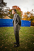 """Joel Podolney, former Dean of Yale School of Management.  Photographed at Yale University for Fortune Magazine's list of """"10 Guru's You Should Know"""".  Podolny is currently Dean of Apple University.   2008-10"""