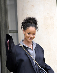 Barbadian singer and Global Ambassador for the Global Partnership for Education Rihanna leaves the Elysee Palace after a meeting with French President Emmanuel Macron in Paris, France on July 26, 2017. Photo by Alain Apaydin/ABACAPRESS.COM