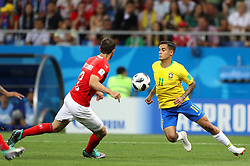 June 17, 2018 - Rostov Do Don, Rússia - ROSTOV DO DON, RO - 17.06.2018: BRAZIL VS SWITZERLAND - Philippe Coutinho from Brazil plays the ball with Mikael LUSTIG from Switzerland during the match between Brazil and Switzerland valid for the 2018 World Cup held at the Rostov Arena in Rostov-on-Don, Russia. (Credit Image: © Rodolfo Buhrer/Fotoarena via ZUMA Press)