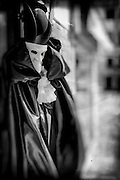 Carnival costume, Venice, Italy, processed to emulate wet plate technique.