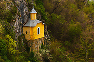 Isolated church of an old Bulgarian monastery builded by the rocks