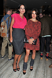 Left to right, YASMIN MILLS and LAUREN KEMP at a party to launch PRPS's new luxury denim line called Noir whilst raising money for UNICEF Japan, held at Nobu Berkeley Street, London on 5th September 2011.