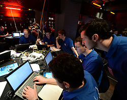© Licensed to London News Pictures. 14/03/2014. London, UK The Cyber Security Challenge - the GCHQ and industry backed cyber games to find young people to protect the UK  from hackers and cyber crime, held at Churchill's War Rooms.. Photo credit : Mike King/LNP