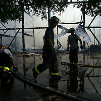 (PPAGE1) Colts Neck 7/17/2002   A huge structure fire on Mine Brooke Dr in Colts Neck that completely destroyed the building and its contents.   Michael J. Treola Staff Photographer.........MJT