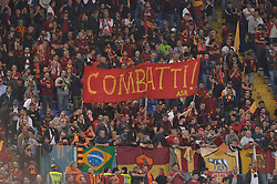 May 2, 2018 - Rome, Italy - AS Roma supporters Curva Sud during the UEFA Champions League semifinal match between AS Roma and FC Liverpool at the Olympic stadium on may 02, 2018 in Rome, Italy. (Credit Image: © Silvia Lore/NurPhoto via ZUMA Press)