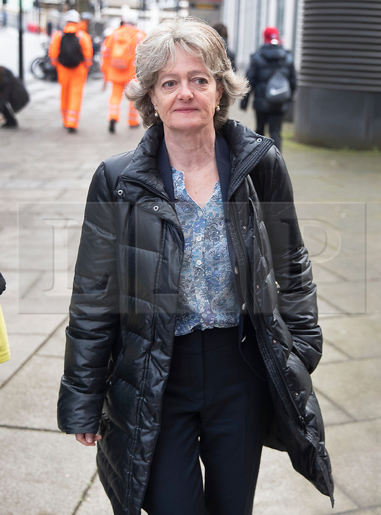 © Licensed to London News Pictures. 27/01/2020. London, UK. Leader of Kensington & Chelsea Council Elizabeth Campbell arrives for phase two of the Grenfell Inquiry. The second part of the inquiry into the fire that claimed the lives of 72 residents will consider important wider issues around the refurbishment and management of the Tower. Photo credit: Peter Macdiarmid/LNP