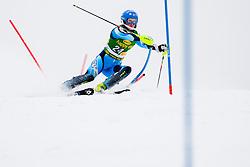 WIKSTROEMEmelie of Sweden during 1st Run of 50th Golden Fox Audi Alpine FIS Ski World Cup Ladies Slalom, on February 2, 2014 in Podkoren, Kranjska Gora, Slovenia. (Photo By Urban Urbanc / Sportida.com)