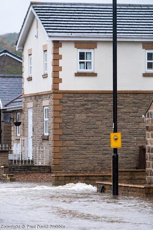 Flooding Mill Road Ecclesfield<br /> <br />  Copyright Paul David Drabble<br />  07 November 2019<br />  www.pauldaviddrabble.co.uk