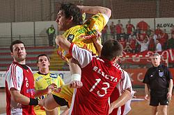 Mirsad Terzic at 15th round of Slovenian Handball MIK 1st league match between RD Slovan and RK Celje Pivovarna Lasko, on February 6, 2009, in Kodeljevo, Ljubljana, Slovenia. Win of RK Slovan 18:17. (Photo by Vid Ponikvar / Sportida)