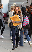 Nov. 16, 2015 - New York City, NY, USA - <br /> <br /> Actress Sarah Jessica Parker was on the set of the new TV show 'Divorce'<br /> ©Exclusivepix Media
