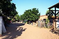 sand street of the beautiful fisherman village of Jericoacoara in ceara state brazil