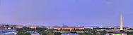 Panoramic View of Washington, DC.  Includes The Capitol, Washington Monument, Smithsonian Mall, The White House, among other Washington, DC landmarks and Washington, DC Monuments..Print Sizes (inches): 15x4; 24x6.5; 36x10; 48x12.5; 60x16; 72x19