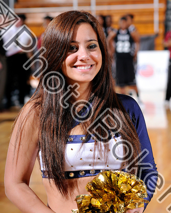 2011 February 26 - FIU Golden Dazzlers dance team cheers for the Golden Panthers before the game. Florida International University Women's Basketball team defeated the Troy Trojans, 71-47, for the first time in nine years at the U.S. Century Bank Arena, Miami, Florida