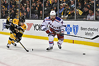 Boston Ma March 02 New York Rangers Right Wing Mats Zuccarello 36 Scramble for The loose Puck during The New York Rangers Game Against The Boston Bruins ON March 2 2017 AT TD Bank Garden in Boston Ma Photo by Michael Tureski Icon Sports Wire NHL Ice hockey men USA Mar 02 Rangers AT Bruins <br /> Norway only<br /> KUN STYKKPRIS