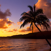 Spectacular sunrise on Kauai, the Garden Isle, Hawaii.