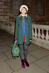 ELLA CATLIFF at Skate at Somerset House in association with Fortnum & Mason held on 10th November 2014.