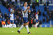 Brighton & Hove Albion defender Lewis Dunk claps the Brighton & Hove Albion fans after the Premier League match between Brighton and Hove Albion and Crystal Palace at the American Express Community Stadium, Brighton and Hove, England on 29 February 2020.
