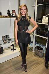 Larissa Eddie at a party to launch Ashley Robert's new footwear range Allyn held ay Larizia, 74 St.John's Wood High Street, London England. 8 February 2017.