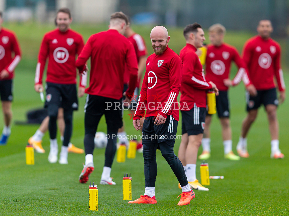 CARDIFF, WALES - Monday, October 5, 2020: Wales' Jonathan Williams during a training session at the Vale Resort ahead of the International Friendly match against England. (Pic by David Rawcliffe/Propaganda)
