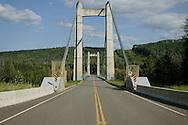 © 2008 Randy Vanderveen, all rights reserved.near Hudson's Hope, British Columbia.A bridge crosses the Peace River near Hudson's Hope, B.C..