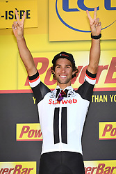 July 18, 2017 - Romans-Sur-Isere, FRANCE - Australian Michael Matthews of Team Sunweb celebrates on the podium after winning the sixteenth stage of the 104th edition of the Tour de France cycling race, 165km from Le Puy-en-Velay to Romans-sur-Isere, France, Tuesday 18 July 2017. This year's Tour de France takes place from July first to July 23rd. BELGA PHOTO DAVID STOCKMAN (Credit Image: © David Stockman/Belga via ZUMA Press)