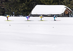 23.02.2020, Suedtirol Arena, Antholz, ITA, IBU Weltmeisterschaften Biathlon, Damen, Massenstart, Siegerehrung, im Bild v.l. Franziska Preuss (GER), Ekaterina Yurlova-Percht (RUS), Hanna Oeberg (SWE), Anais Bescond (FRA) // f.l. Franziska Preuss of Germany Ekaterina Yurlova-Percht of Russian Federation Hanna Oeberg of Sweden and Anais Bescond of France during the winner ceremony of the women's mass start of IBU Biathlon World Championships 2020 at the Suedtirol Arena in Antholz, Italy on 2020/02/23. EXPA Pictures © 2020, PhotoCredit: EXPA/ Stefan Adelsberger