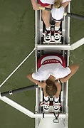 Seville, Andalusia, SPAIN<br /> <br /> 2002 World Rowing Championships - Seville - Spain Sunday 15/09/2002.<br /> <br /> Rio Guadalquiver Rowing course<br /> <br /> CAN W2- Jacqueline Cook and Karen Clark<br /> <br /> [Mandatory Credit:Peter SPURRIER/Intersport Images]